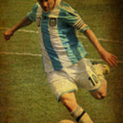 Lionel Andres Messi Argentine Footballer Fc Barcelona  Poster by Lee Dos Santos