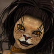 Lioness Poster by Jutta Maria Pusl
