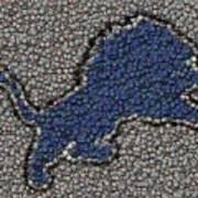 Lions Bottle Cap Mosaic Poster by Paul Van Scott