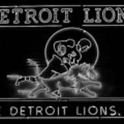 Lions Football Poster