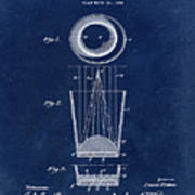 Liquershot Glass Patent 1925 Blue Poster