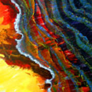 Liquid Abstract Fifteen Poster