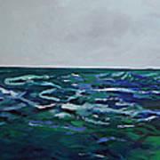 Liquid Blue No.4 Poster