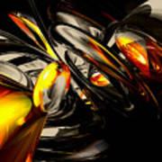 Liquid Chaos Abstract Poster