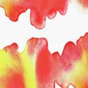 Liquid Fire Watercolor Abstract II Poster
