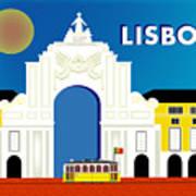 Lisboa Lisbon Portugal Horizontal Scene Poster