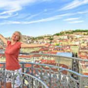 Lisbon Aerial Enjoying Poster
