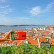 Lisbon Pictures Aerial Poster
