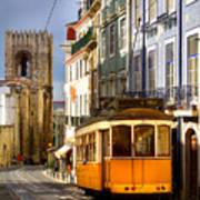 Lisbon Tram Poster by Carlos Caetano
