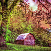 Little Barn In The Smokies Poster