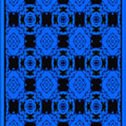 Little Blue Angels Abstract Poster