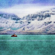 Little Boat In Reykjavik Bay Poster