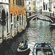 Little Boat In Venice Poster