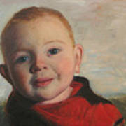 Little boy in red Poster
