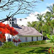 Little Church At Puako Big Island Poster