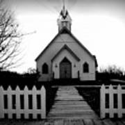 Little Church B And W Poster by Julie Hamilton