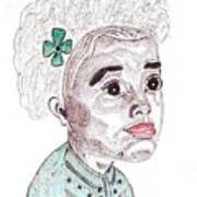 Little Girl With A Green Bow Poster