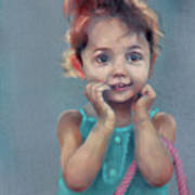 Little Girl With Purse Poster