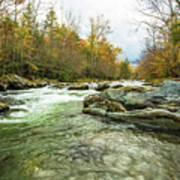 Little Pigeon River Greenbrier Area Of Smoky Mountains Poster