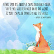 Little Prince Fox Quote, Text Art Poster