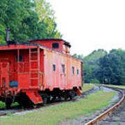 Little Red Caboose Enhanced Poster