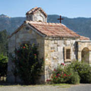 Little Stone Chapel In Vineyards Of Napa Valley Poster