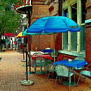 Little Street Cafe Poster
