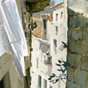 Little Street In Dubrovnik Poster