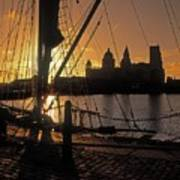 Liverpool, England View From Albert Dock Poster