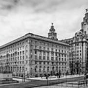 Liverpool Royal Liver And Cunard Buildings Poster