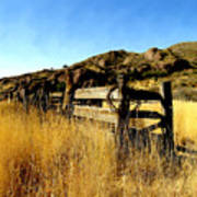 Livery Fence At Dripping Springs Poster