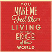 Living At The Edge Poster