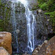 Living Waters - Wailua Falls Maui Poster