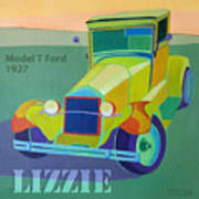 Lizzie Model T Poster by Evie Cook