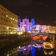 Ljubljana At Christmas Poster