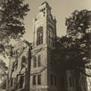 Llano County Courthouse - Vintage Poster