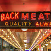 Loback Meat Co Neon Poster