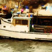 Lobster Boat Stonington Ct Poster