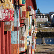 Lobster Buoy On Motif 1, Rockport, Ma Poster
