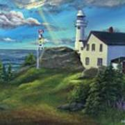 Lobster Cove Head Lighthouse, Rocky Harbour, Nl Poster