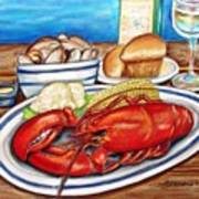 Lobster Dinner Poster by Patricia L Davidson