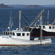 Lobster Fishing Boats Poster
