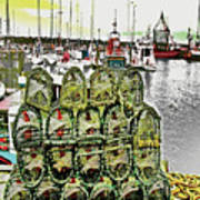 Lobster Pots Kilmore Quay, Wexford, Ireland, Poster Effect 1a Poster