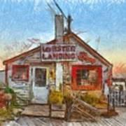 Lobster Shack Pencil Poster