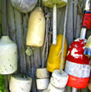 Lobster Trap Buoys 2 Poster