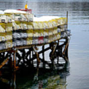 Lobster Traps In Winter Poster