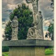 Local Cemetery Statue Poster