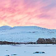 Loch Ba Panoramic Sunrise Poster