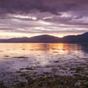 Loch Linnhe - The Last Rays Of The Sun. Poster