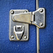 Lock On A Blue Suitcase Poster